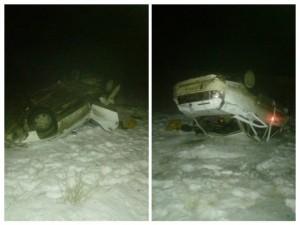Пьяный водитель ВАЗа перевернул машину