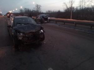 «Датсун» получил удар сзади на трассе в Екатеринбург