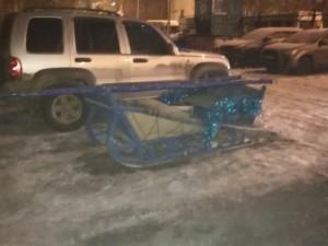 Дед Мороз оставил телегу без оленей на ЧМЗ