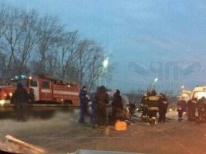 Три машины столкнулись на Троицком тракте