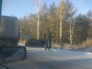 Двойное ДТП на дороге в сторону Чебаркуля