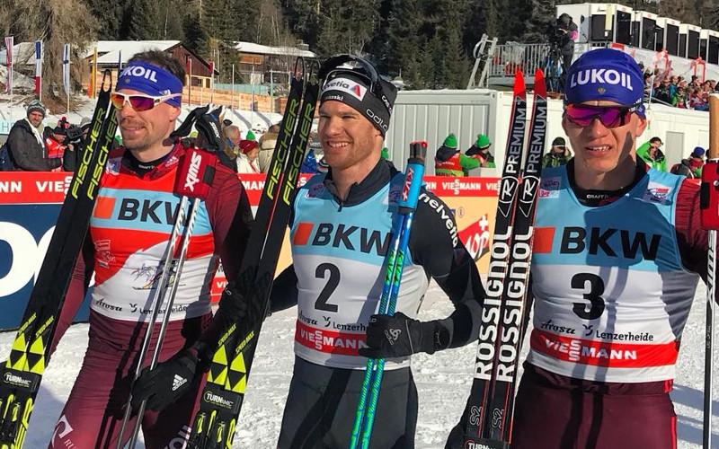 Брянский лыжник Александр Большунов закрепился в тройке лучших на «Тур де Ски»