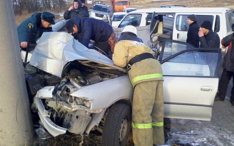 Под Брянском случилось массовое ДТП — трое в больнице