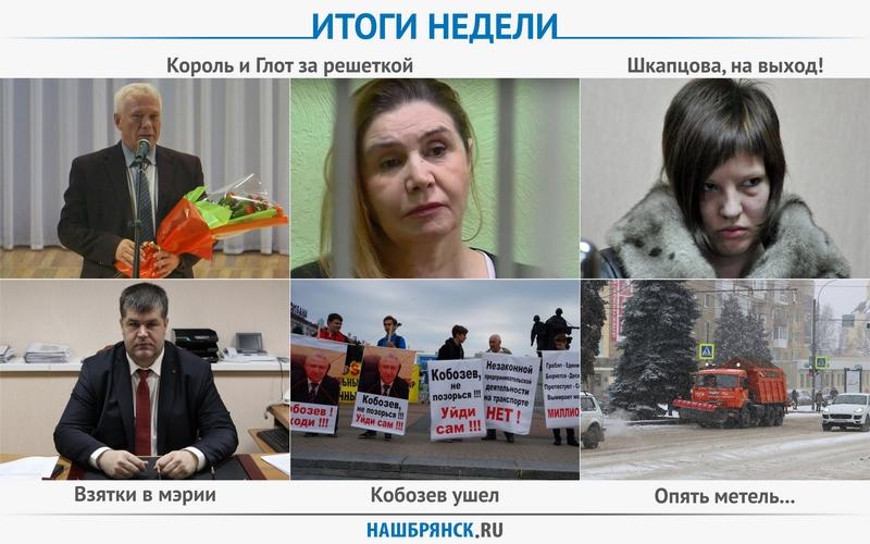 Король и Глот сели, Шкапцова вышла, Кобозева уволили — итоги брянской недели