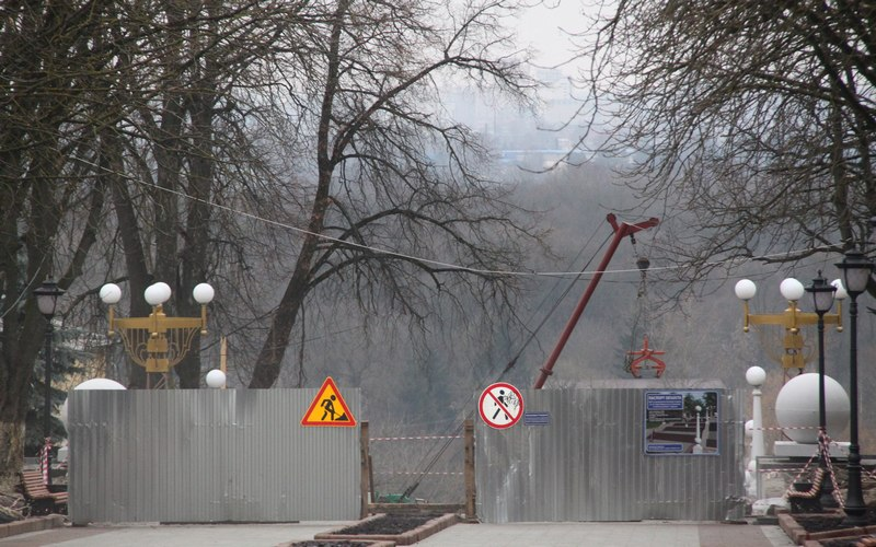 Главную лестницу Брянска строят на новогодних каникулах