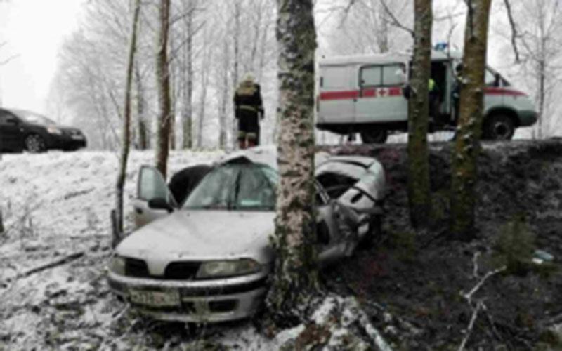 ДТП под Клинцами: спасатели достали пострадавшую изискореженного авто