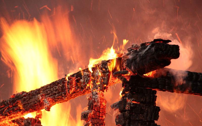 ВУнече сгорела баня
