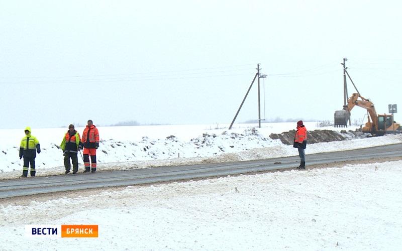 Начался ремонт смертельно опасной трассы Брянск-Новозыбков