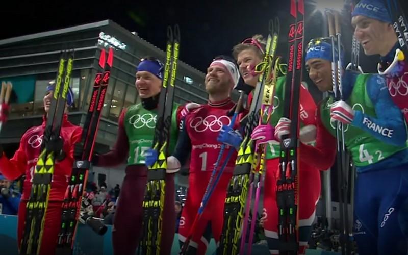 Лыжники Александр Большунов и Денис Спицов взяли серебро на Олимпиаде