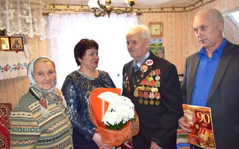 В преддверии 23 февраля выгоничский ветеран Великой Отечественной отметил 90-летие