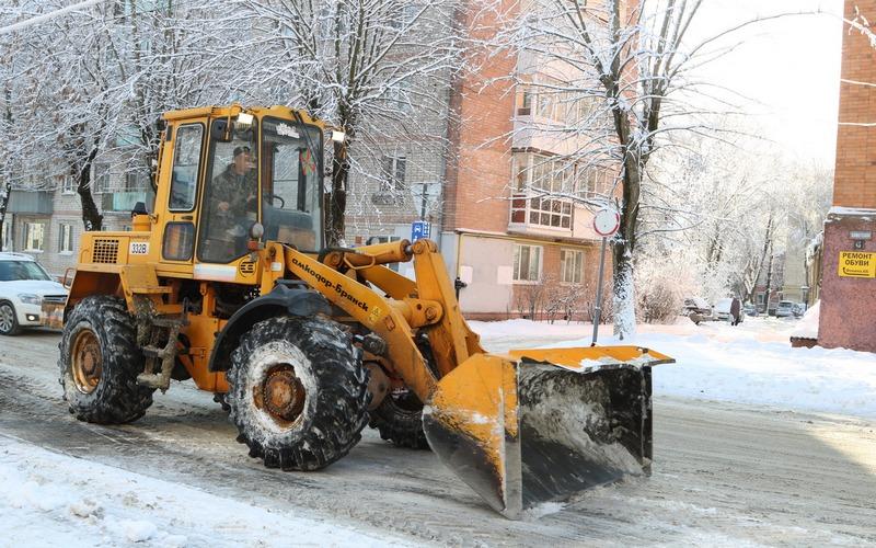 Борьба со снегом продолжается: в Брянске чистят снег и пилят аварийные деревья