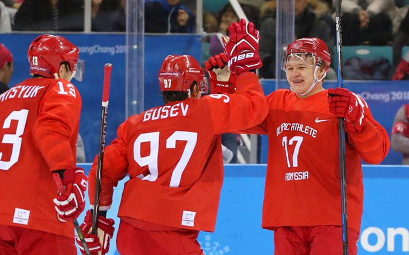 Хоккейная дружина Знарка разгромила Словению на Олимпиаде в Корее