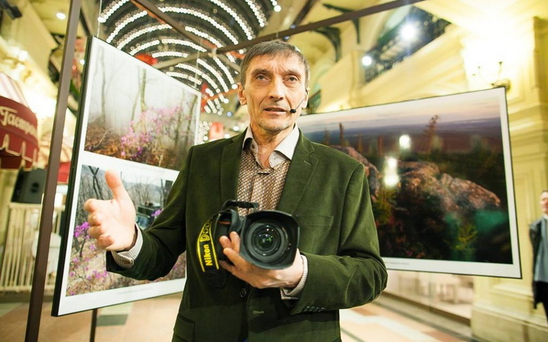 Экспозиция «заповедных» фотографий брянского эколога Игоря Шпиленка открылась в московском ГУМе