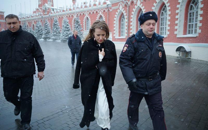 В Москве произошло нападение на Ксению Собчак