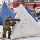 Брянские юнармейцы схлестнулись в военно-спортивной игре «Лазертаг»