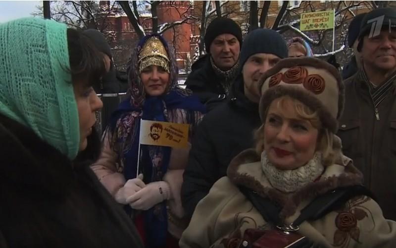 Галина Поцелуева изСуземки исполнила «Барыню» наПервом канале
