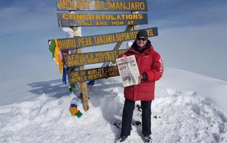 Дятьковскую газету «Пламя труда» занесло наКилиманджаро