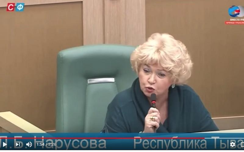 Уроженка Брянщины вСовете Федерации обвинила Мединского вбезнравственности