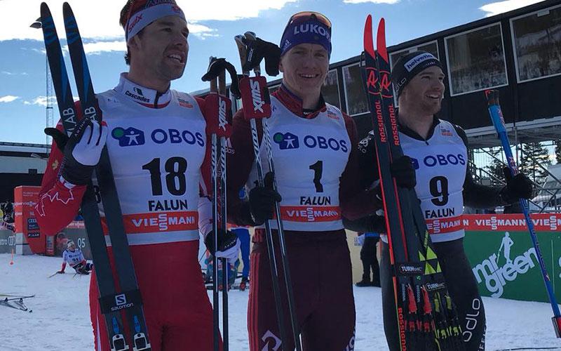 Александр Большунов взял второе золото подряд наКубке мира вШвеции