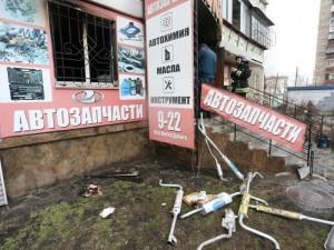 Сгорел магазин автозапчастей