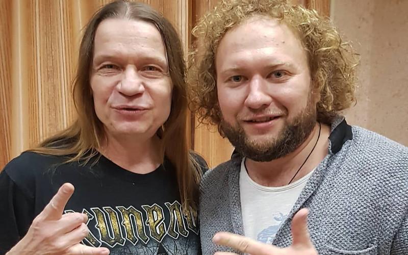 Фронтмен рок-группы «Кипелов» спел а капелла с «Бабкиными внуками» в гримерке
