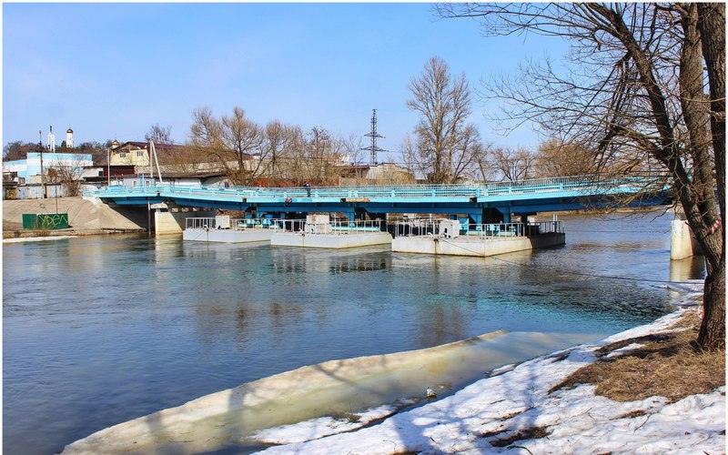 С 9 апреля в Брянске закроют понтонный мост на набережной