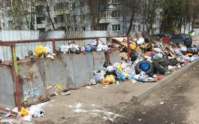 Перевернутые мусорные баки привели брянцев в недоумение