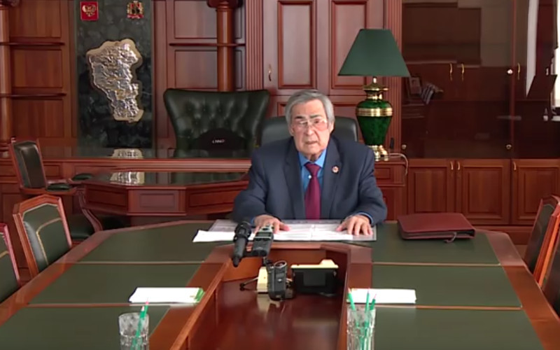 Глава Кемеровской области Аман Тулеев подал в отставку