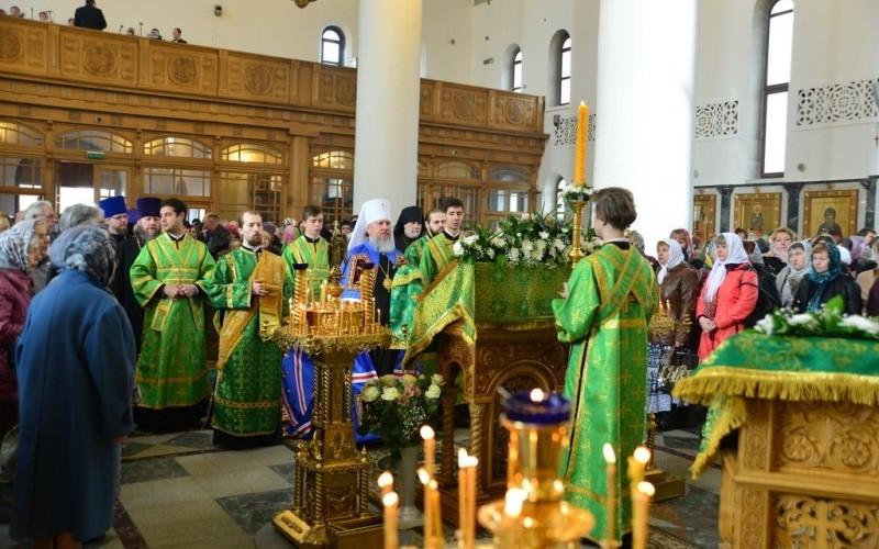 Православные брянцы отмечают Вербное воскресенье