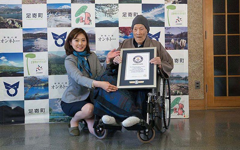 Самый старый мужчина на планете живет в Японии