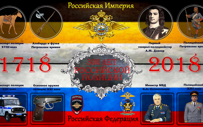 Брянская полиция отметит 300-летие ведомства
