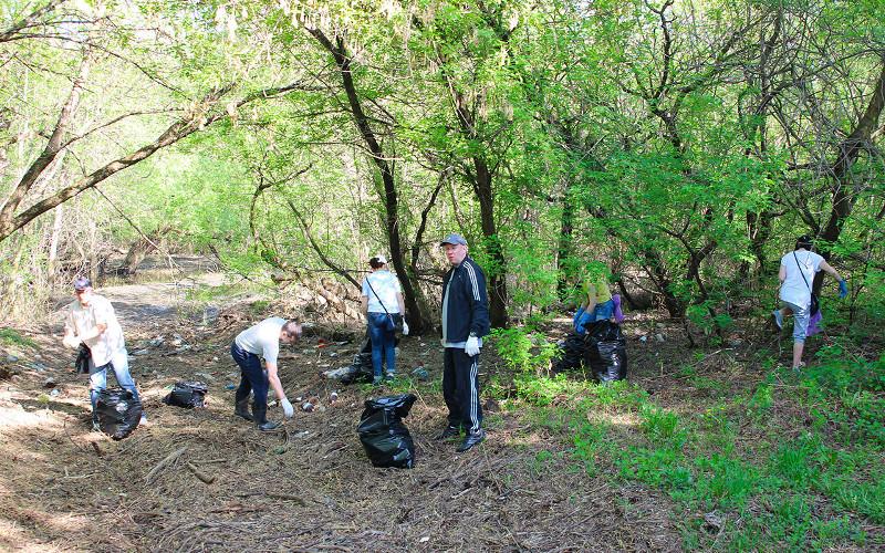В разных районах Брянска прошла массовая генеральная уборка