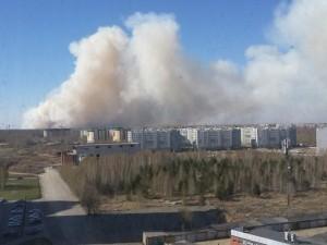 Страшный дым поднялся за Краснопольской площадкой
