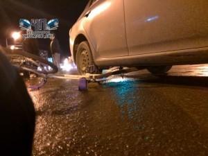 Велосипедистку сбили в Челябинске