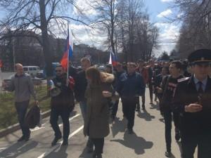 В Уфе полицейские прошли в одной колонне со сторонниками Навального