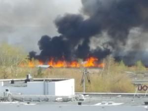 200 гаражей сгорели в Озерске