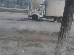 ГАЗель сгорела на северо-западе Челябинска