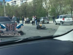 Мотоциклист разбился в Челябинске