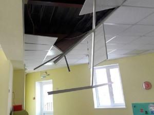 Потолок в детском саду рухнул в момент проверки Контрольно-счетной палаты
