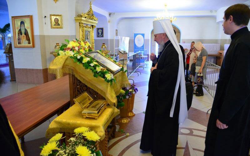 ВБрянск доставили мощи Феофана Затворника