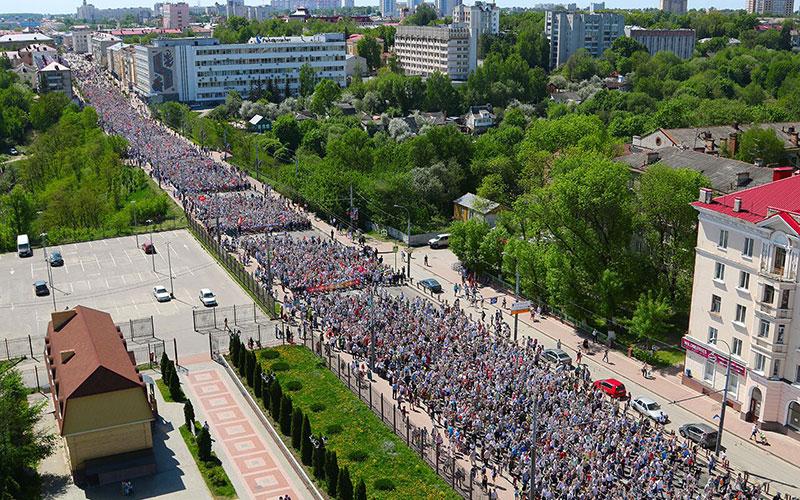 Более 115 тысяч брянцев прошествовали в«Бессмертном полку»