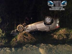 Машина перевернулась возле Томино