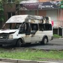 На ЧМЗ дотла сгорела маршрутка Ford Transit
