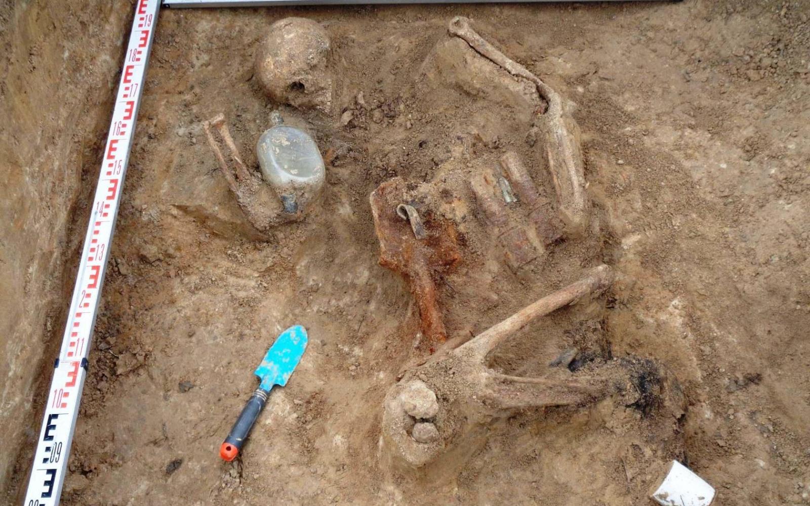 Брянские поисковики нашли останки солдата времен ВОВ