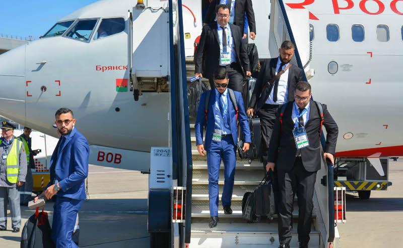 Сборная Туниса пофутболу прилетела вРоссию насамолете «Брянск»