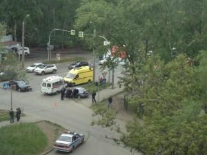 ДТП на улице Новороссийской. Троих, включая ребенка, увезли на скорой