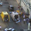 Вцентре Москвы таксист въехал втолпу людей