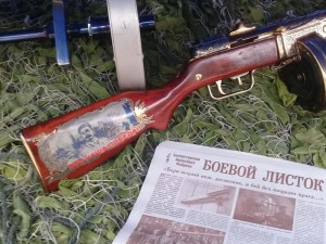 Золотой пулемет «максим» от златоустовских мастеров