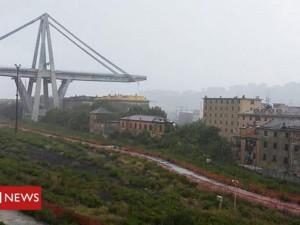 Рухнул мост в Генуе. Десятки погибших