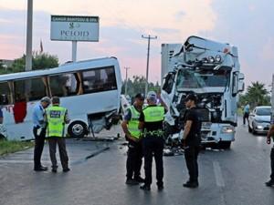 В Анталье в ДТП пострадали 13 российских туристов
